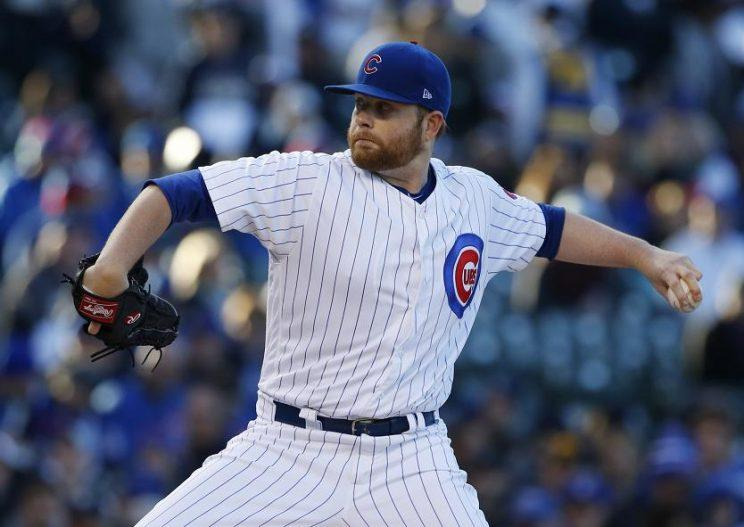 Brett Anderson worked in a jab at President Trump's transgender military ban after being DFAed by Cubs. (AP)