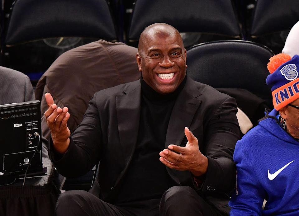 Magic Johnson remains unsure what the fuss is about. (Getty)