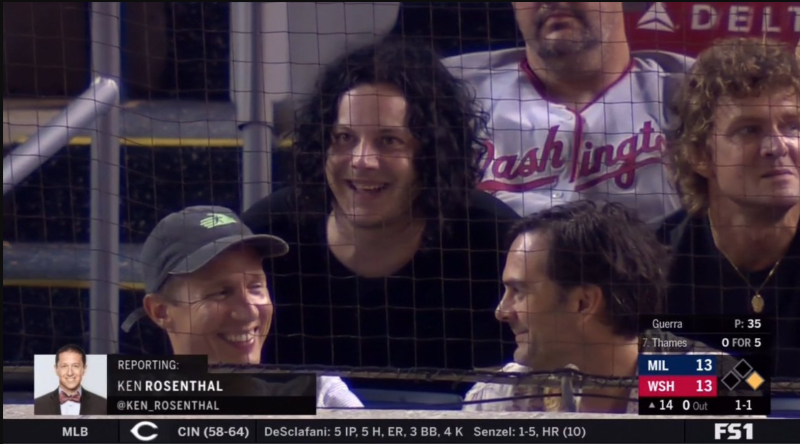 Jack White attended a baseball game, left to play a show, and returned in time to see its ending