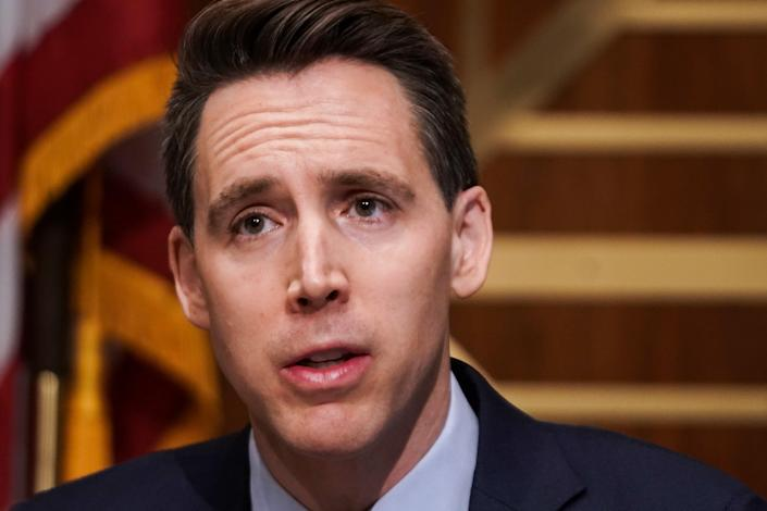 <p>Josh Hawley issues counter-complaint against Democrats who called for investigation into him over Capitol insurrection</p> (Greg Nash-Pool/Getty Images)