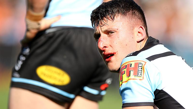 Bronson Xerri, pictured here in action for Cronulla in 2019.