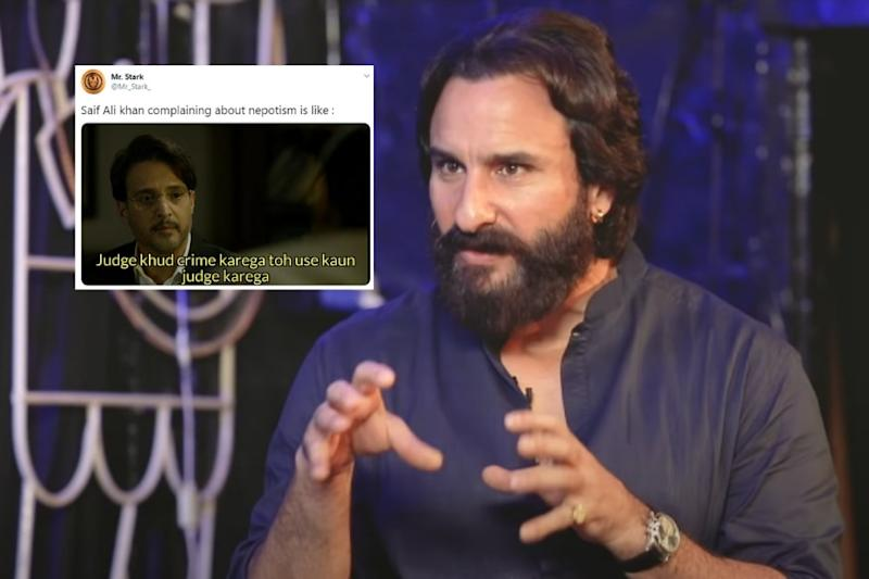 Saif Ali Khan, Son of Sharmila Tagore, Says He Was Victim of Nepotism. Twitter Responds with Memes