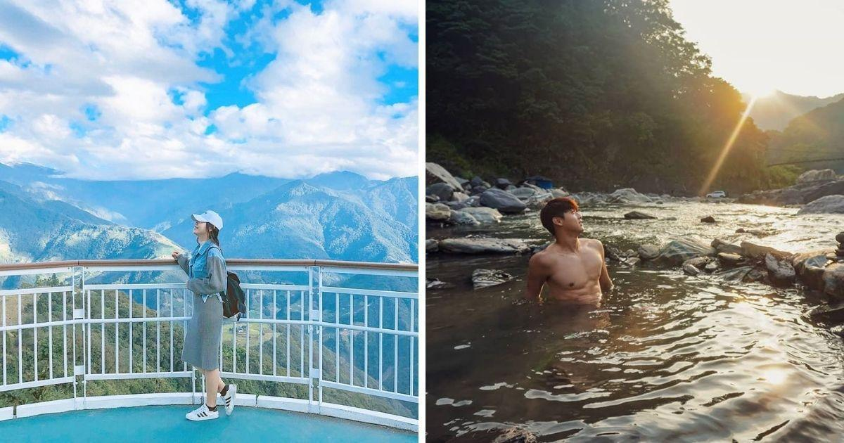 <p>The photo collage shows skywalk (left) and Elite Hot Spring (right). (Courtesy of @evachang03 and @mccartney.ken/Instagram) </p>
