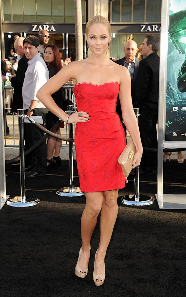 """<a href=""""http://movies.yahoo.com/movie/contributor/1809846258"""">Laura Vandervoort</a> at the Los Angeles premiere of <a href=""""http://movies.yahoo.com/movie/1810166777/info"""">Green Lantern</a> on June 15, 2011."""