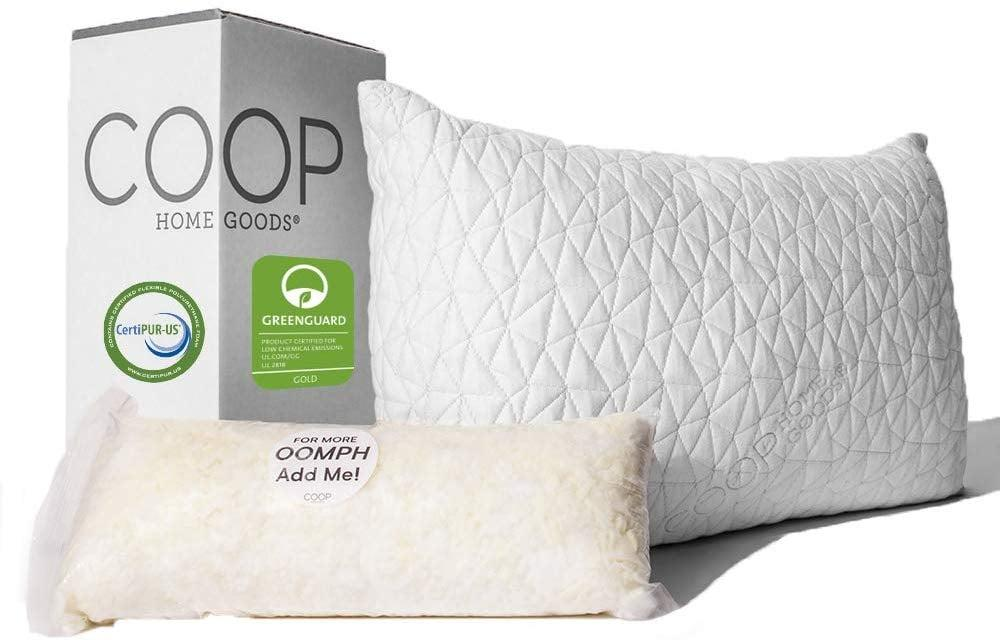 "<p>We love that this <a href=""https://www.popsugar.com/buy/Coop-Home-Goods-Premium-Adjustable-Loft-Pillow-508182?p_name=Coop%20Home%20Goods%20Premium%20Adjustable%20Loft%20Pillow&retailer=amazon.com&pid=508182&price=60&evar1=casa%3Aus&evar9=46822644&evar98=https%3A%2F%2Fwww.popsugar.com%2Fhome%2Fphoto-gallery%2F46822644%2Fimage%2F46822704%2FCoop-Home-Goods-Premium-Adjustable-Loft-Pillow&list1=shopping%2Camazon%2Cbedrooms%2Chome%20shopping&prop13=mobile&pdata=1"" rel=""nofollow"" data-shoppable-link=""1"" target=""_blank"" class=""ga-track"" data-ga-category=""Related"" data-ga-label=""https://www.amazon.com/dp/B00EINBSEW"" data-ga-action=""In-Line Links"">Coop Home Goods Premium Adjustable Loft Pillow</a> ($60-$65) comes with extra fill, too.</p>"