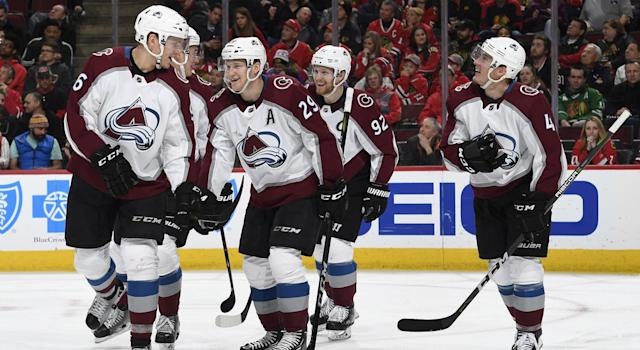 How good has the Avalanche's top line been? (Getty)