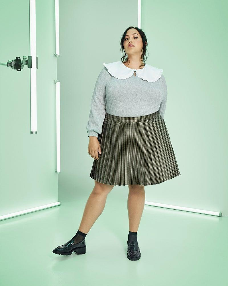 """<strong><h3>Sandy Liang x Target</h3></strong><br><br><strong>Sandy Liang x Target</strong> Checkered Pleated Mini Skirt, $, available at <a href=""""https://go.skimresources.com/?id=30283X879131&url=https%3A%2F%2Fgoto.target.com%2FRyb3WX"""" rel=""""nofollow noopener"""" target=""""_blank"""" data-ylk=""""slk:Target"""" class=""""link rapid-noclick-resp"""">Target</a><br><br><strong>Sandy Liang x Targe</strong> Oversized Collared Sweatshirt, $, available at <a href=""""https://go.skimresources.com/?id=30283X879131&url=https%3A%2F%2Fgoto.target.com%2FBXPo1B"""" rel=""""nofollow noopener"""" target=""""_blank"""" data-ylk=""""slk:Target"""" class=""""link rapid-noclick-resp"""">Target</a>"""
