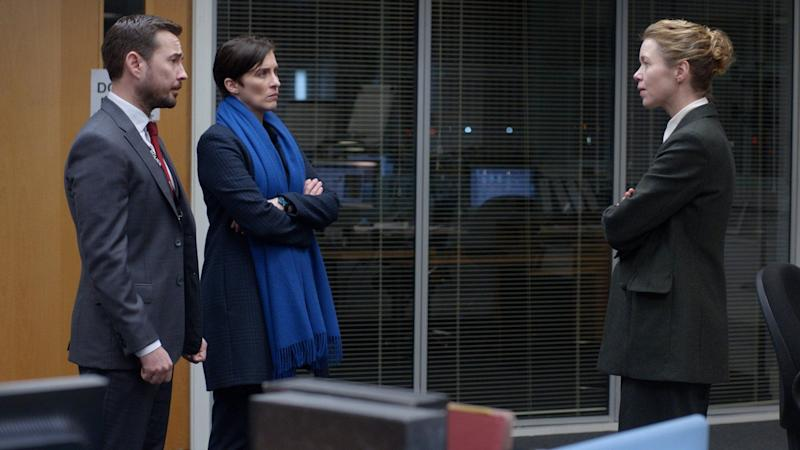 Anna with Line Of Duty co-stars Vicky McClure and Martin Compston (Photo: BBC)