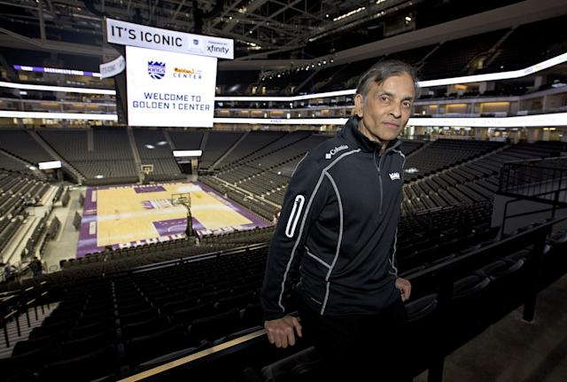 Owner Vivek Ranadive has been canvassing the NBA for possible candidates to run the Kings and has been intrigued with Sam Hinkie. (AP)