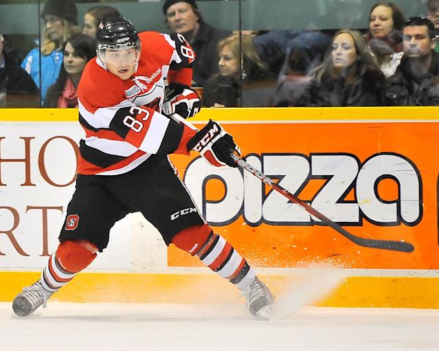 Cody Ceci of the Ottawa 67's. Photo by Aaron Bell/OHL Images