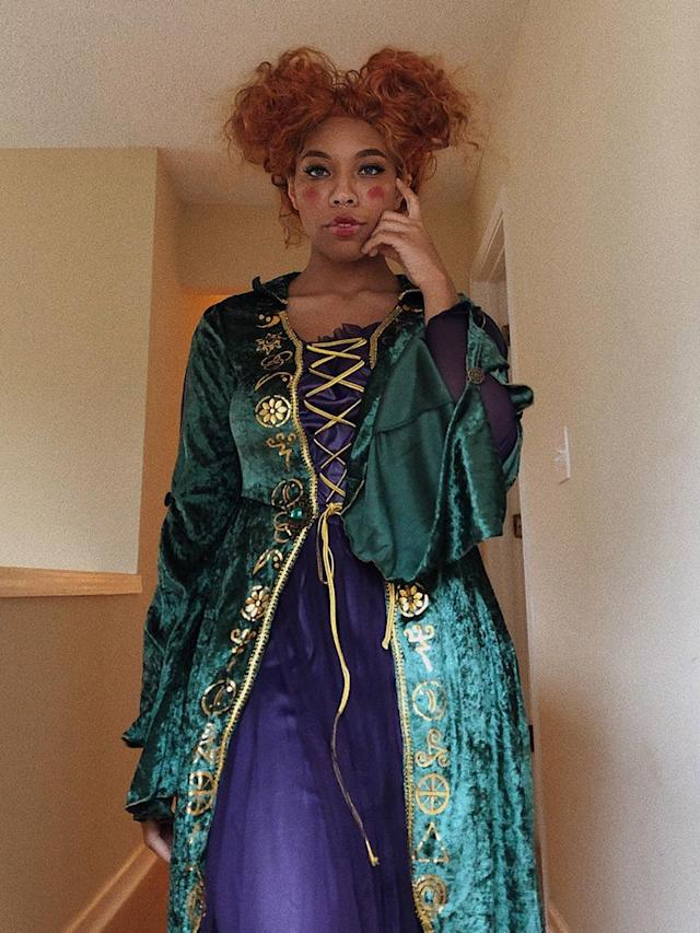 Kiera Please cosplaying Winifred Sanderson from <em>Hocus Pocus</em>. (Photo: Courtesy of Kiera Please)