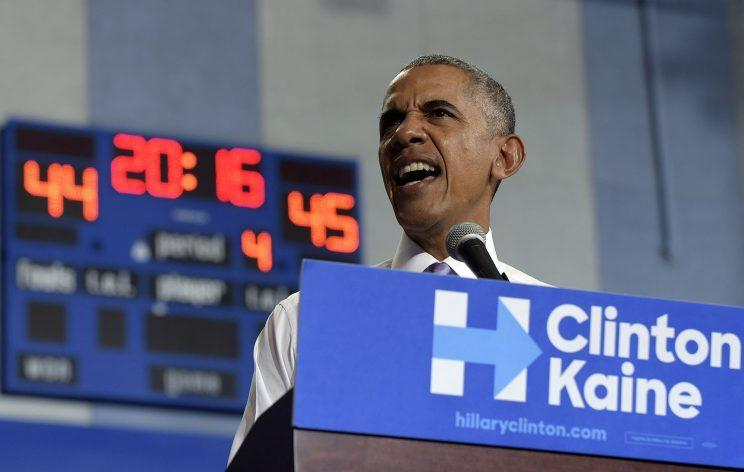 President Barack Obama speaks as he campaign for Democratic presidential candidate Hillary Clinton at Florida Memorial University in Miami Gardens, Oct. 20, 2016. (Photo: Susan Walsh/AP)