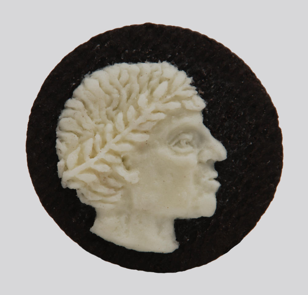 Artist Judith G. Klausner created these amazing cameos out of Oreo Cookies.  Check out this slideshow to see more Oreo portraits.  (Photo: Steve Pomeroy)