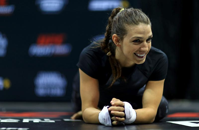 TAMPA, FLORIDA - OCTOBER 09: Mackenzie Dern works out ahead of a fight against Amanda Ribas on October 12th at Yuengling Center on October 09, 2019 in Tampa, Florida. (Photo by Mike Ehrmann/Zuffa LLC/Zuffa LLC)