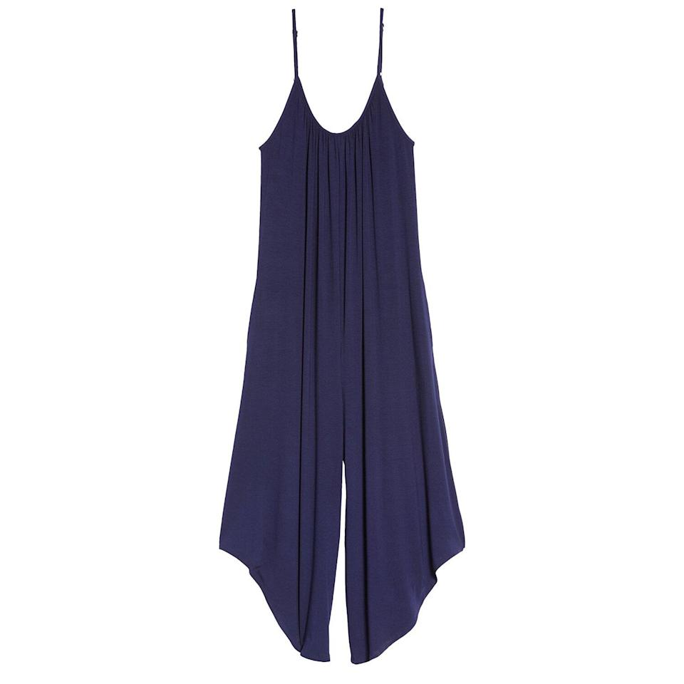"""<p>A loose-fitting jumpsuit is the ultimate stylish loungewear staple that looks polished enough to wear outside. This one features wide cropped legs, side pockets, and spaghetti straps for a cool, breathable outfit. It feels as comfy as pajamas but looks just a bit more pulled together.</p> <p><strong>To buy</strong>: $38 (was $50); <a href=""""https://click.linksynergy.com/deeplink?id=93xLBvPhAeE&mid=1237&murl=http%3A%2F%2Fshop.nordstrom.com%2Fs%2Fsocialite-lounge-crop-jumpsuit%2F5559543%2Ffull&u1=RS%2CNordstromQuietlyMarkedDownPricesonSoManyComfyEssentials%2Cjmastrop%2CCLO%2CIMA%2C697481%2C202003%2CI"""" rel=""""nofollow noopener"""" target=""""_blank"""" data-ylk=""""slk:nordstrom.com"""" class=""""link rapid-noclick-resp"""">nordstrom.com</a>.</p>"""