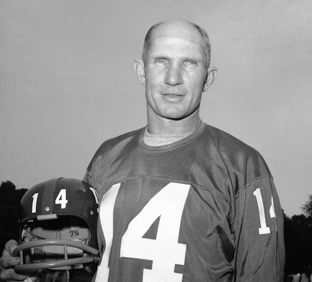 <p>Y.A. Tittle (1926-2017): Hall of Fame quarterback with the Baltimore Colts, San Francisco 49ers and New York Giants. </p>