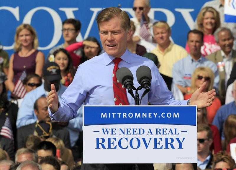 "FILE - In this Oct. 17, 2012, file photo, Virginia Gov. Bob McDonnell gestures as he introduces Republican presidential candidate, former Gov. Mitt Romney during a rally at Tidewater Community college in Chesapeake, Va. Republicans are in position to extend their recent gains among governors as they compete for seats they haven't won in a quarter-century. Of the 11 states with gubernatorial elections, eight are now led by Democrats, and each of the most competitive races is a GOP pickup opportunity. The numbers suggests that Republicans soon will claim 30 to 33 governorships after holding just 22 a few years ago _ an advantage not reflected in the divided Congress or competitive presidential race. ""It says that when people are choosing the government closest to the people, they're choosing Republicans,"" said McDonnell, chairman of the Republican Governors Association. ""They realize the CEO of the state has got to be someone who's fiscally conservative and is going to focus on jobs."" (AP Photo/Steve Helber, File)"