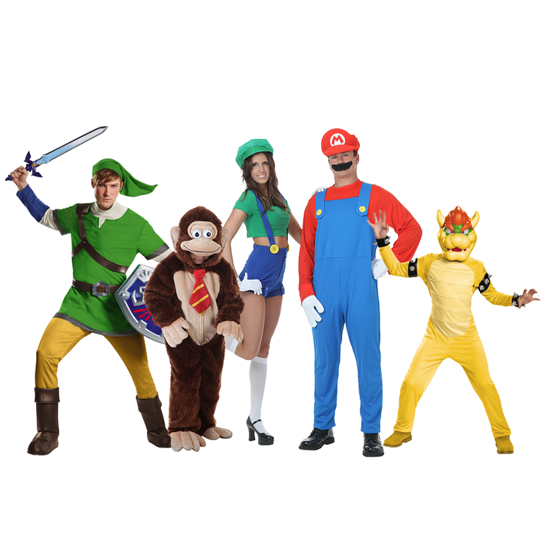 """<p><strong>Halloween Costumes</strong></p><p>halloweencostumes.com</p><p><strong>$54.99</strong></p><p><a href=""""https://go.redirectingat.com?id=74968X1596630&url=https%3A%2F%2Fwww.halloweencostumes.com%2Fsuper-mario-bros-costumes.html&sref=https%3A%2F%2Fwww.goodhousekeeping.com%2Fholidays%2Fhalloween-ideas%2Fg28106766%2Ffamily-halloween-costumes%2F"""" rel=""""nofollow noopener"""" target=""""_blank"""" data-ylk=""""slk:Shop Now"""" class=""""link rapid-noclick-resp"""">Shop Now</a></p><p>Each member of the family can tackle their favorite character from the classic video game. There are sizes and accessories from infant to adult for multiple characters.</p>"""
