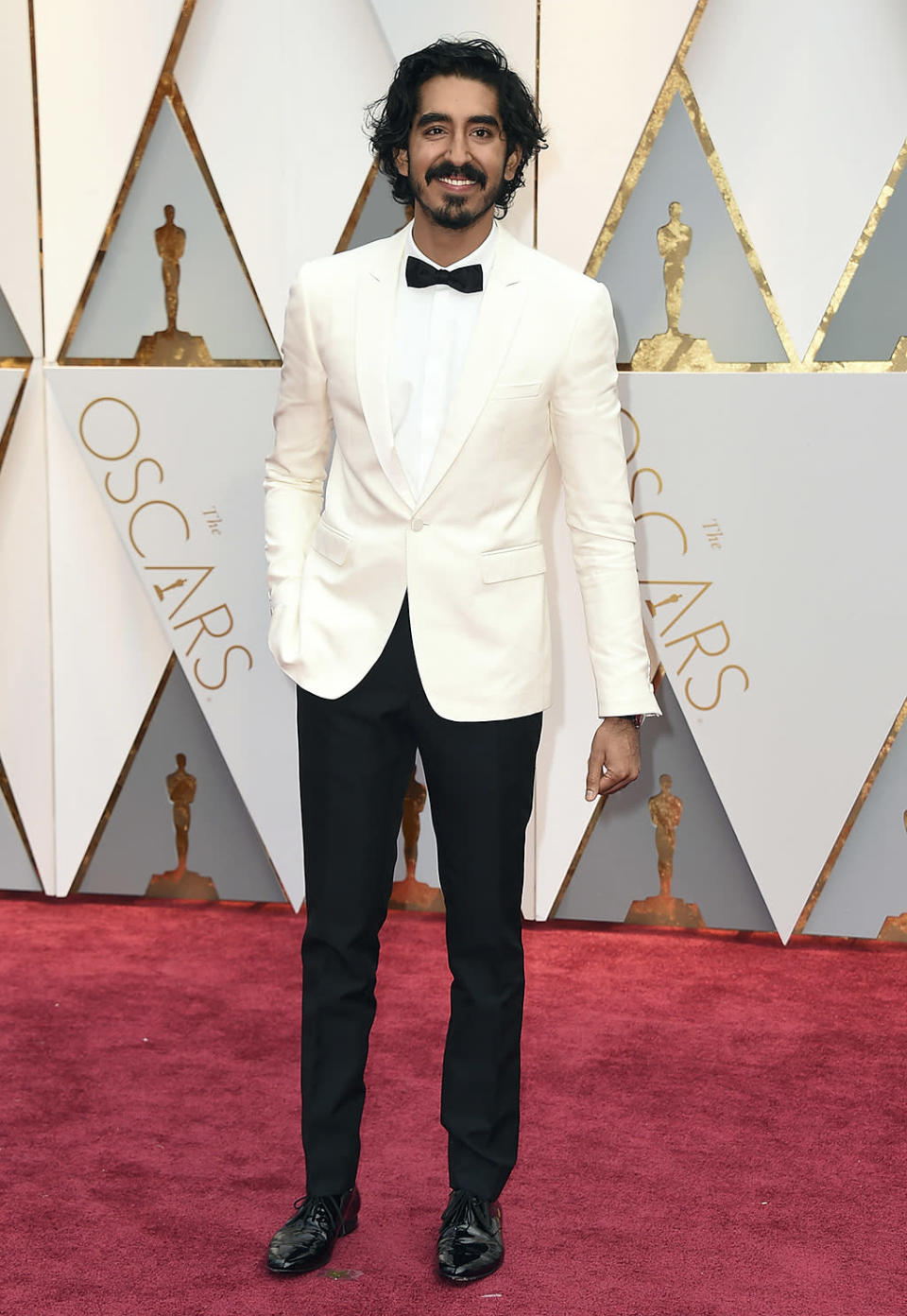 <p>Dev Patel arrives at the Oscars on Feb. 26, 2017, at the Dolby Theatre in Los Angeles. (Photo by Jordan Strauss/Invision/AP) </p>