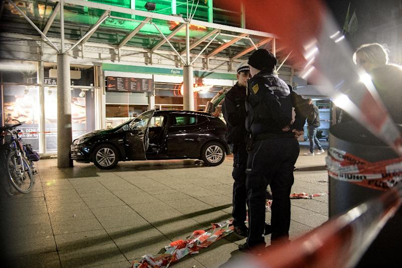 Police said a 73-three-year German man who suffered serious injuries in the car attack later died in hospital (AFP Photo/Thomas Lohnes)