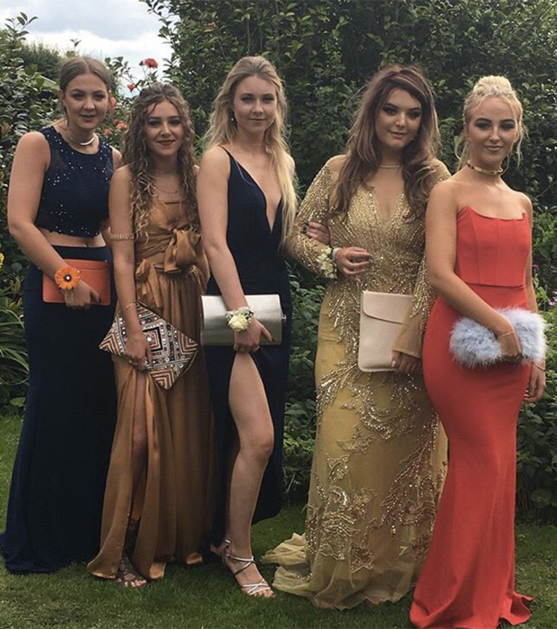Can you spot the hip flask in this formal photo? Photo: Twitter/@eleanorclrke