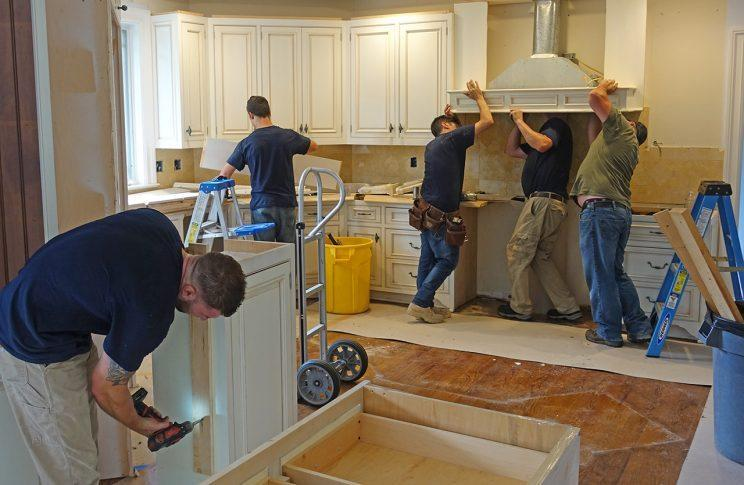The Renovation Angel crew doesn't demolish the old kitchen; they recycle it.