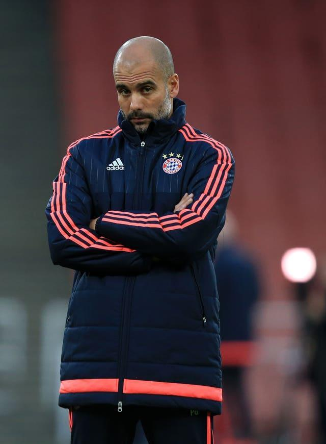 Guardiola won a second league and cup double in his final season at Bayern Munich