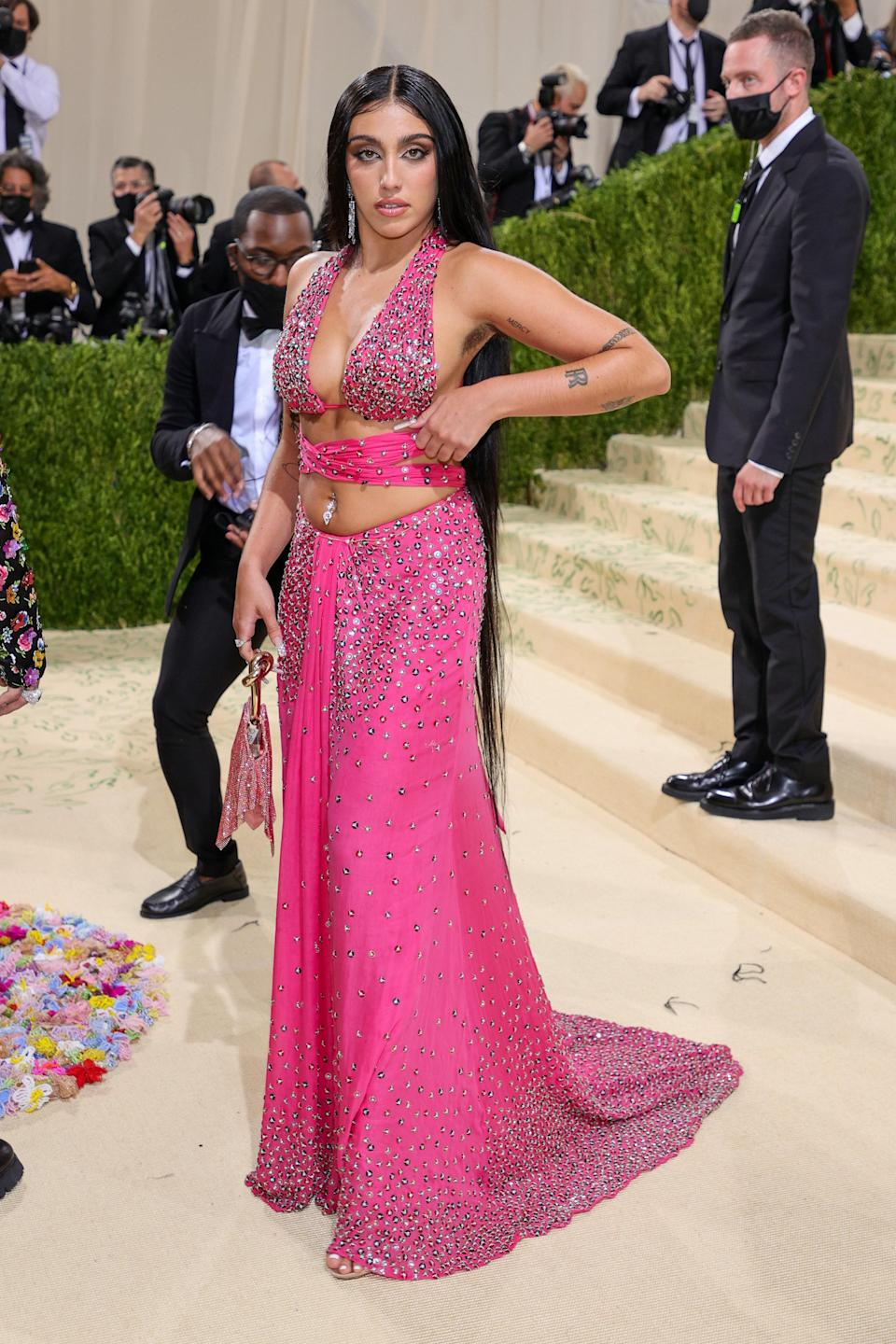 """<h1 class=""""title"""">Lourdes, The 2021 Met Gala Celebrating In America: A Lexicon Of Fashion - Arrivals</h1><cite class=""""credit"""">Getty</cite>"""