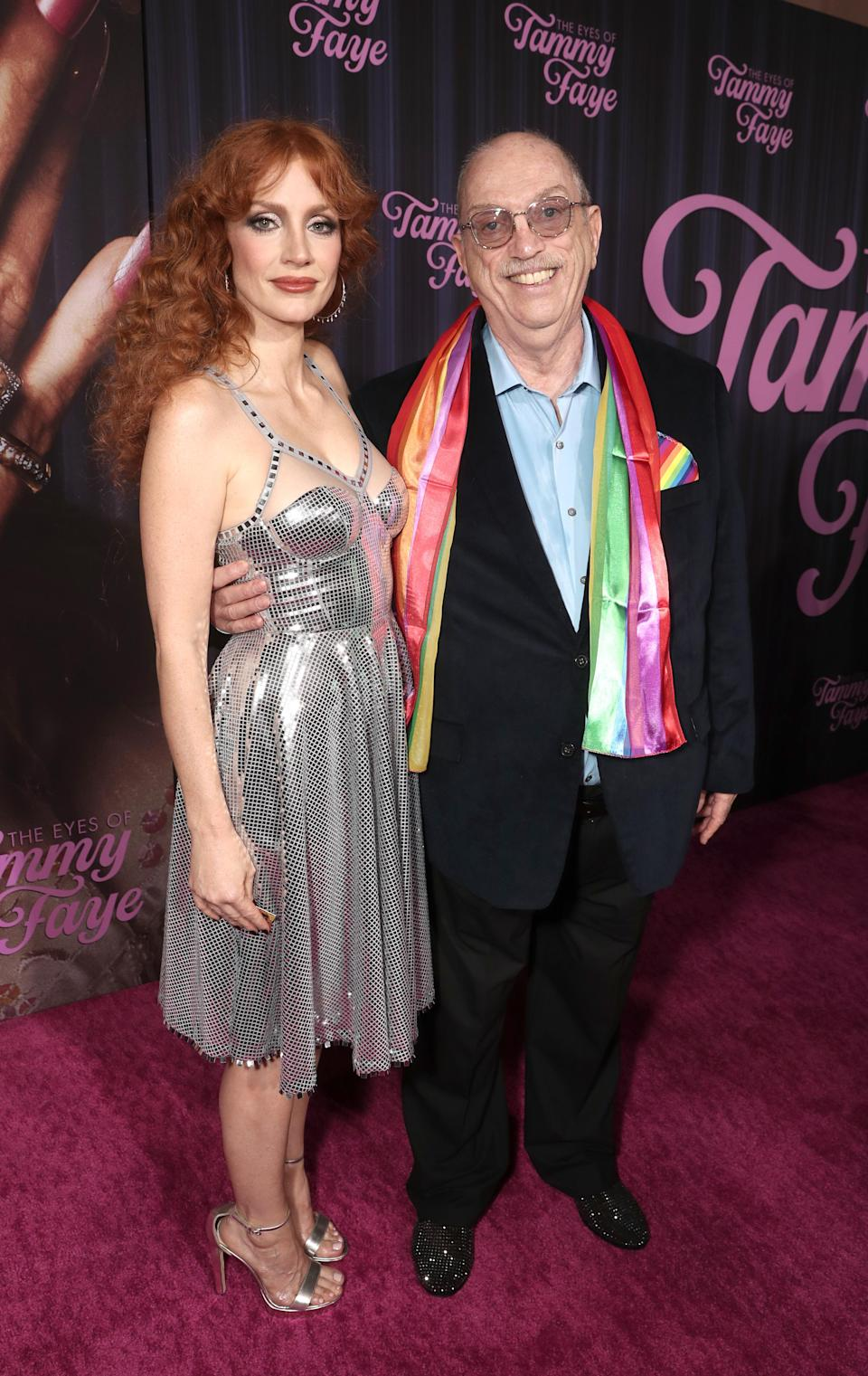 """Jessica Chastain and Steve Pieters attend Searchlight Picture's """"The Eyes of Tammy Faye"""" New York Premiere on Tuesday, September 14, 2021. - Credit: Todd Williamson/January Images"""