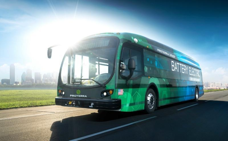 The Proterra Catalyst E2 is capable of serving the full daily mileage needs of nearly every U.S. mass transit route on a single charge and offers the transit industry the first direct replacement for fossil-fueled transit vehicles. (PRNewsFoto/Proterra)