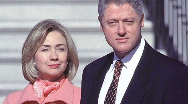 A former Secret Service officer reveals President Clinton (pictured with Hillary during the height of the Monica Lewinksy affair) had affairs with at least three mistresses in the White House during his presidency. Picture: Getty