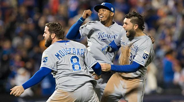 Outfielder Lorenzo Cain, shortstop Alcides Escobar, first baseman Eric Hosmer and third baseman Mike Moustakas are all free agents after this season.