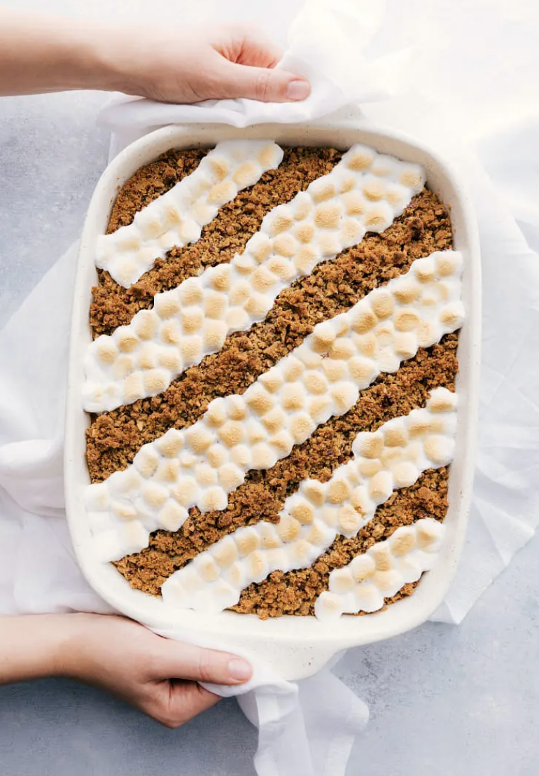 "<p>Any sweet potato casserole naysayers will think twice when they see this brown sugar pecan topping.</p><p><strong>Get the recipe at <a href=""https://www.chelseasmessyapron.com/sweet-potato-casserole/"" rel=""nofollow noopener"" target=""_blank"" data-ylk=""slk:Chelsea's Messy Apron"" class=""link rapid-noclick-resp"">Chelsea's Messy Apron</a>.</strong></p><p><strong><a class=""link rapid-noclick-resp"" href=""https://go.redirectingat.com?id=74968X1596630&url=https%3A%2F%2Fwww.walmart.com%2Fbrowse%2Fhome%2Fbaking-dishes%2F4044_623679_8455465_2321543%3Ffacet%3Dbrand%253AThe%2BPioneer%2BWoman&sref=https%3A%2F%2Fwww.thepioneerwoman.com%2Ffood-cooking%2Fmeals-menus%2Fg33251890%2Fbest-thanksgiving-sides%2F"" rel=""nofollow noopener"" target=""_blank"" data-ylk=""slk:SHOP BAKING DISHES"">SHOP BAKING DISHES</a><br></strong></p>"