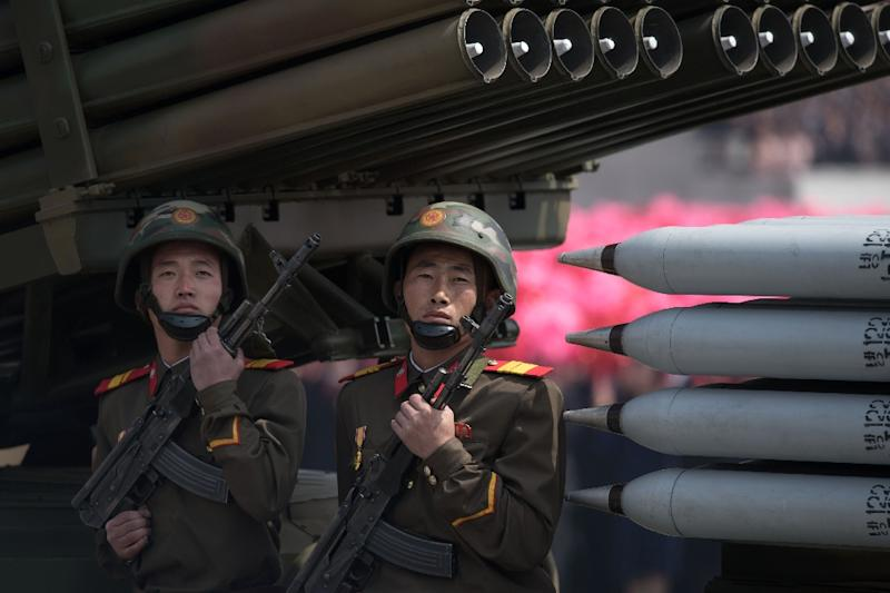 North Korea has raised tensions in the region with its rapid progress in weapons technology under leader Kim Jong-Un (AFP Photo/Ed JONES)