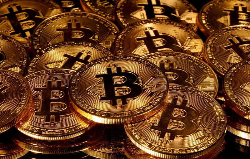 FILE PHOTO: Representations of virtual currency Bitcoin are seen in this picture illustration