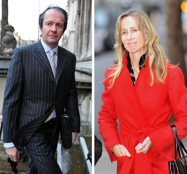 "Undated file photos of Scot Young and Michelle Young as Mrs Young, the estranged wife of the property dealer Mr Young, jailed for disobeying High Court orders to provide information about his finances is ""entitled to feel aggrieved"", a judge said today."
