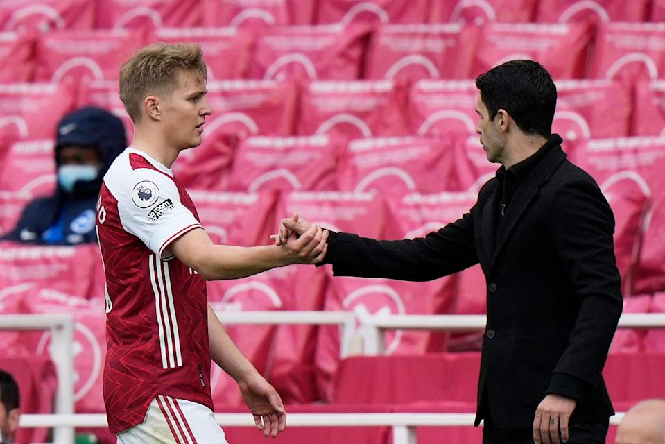 <p>Martin Odegaard is due to return to Real Madrid from Arsenal this summer</p> (Getty Images)