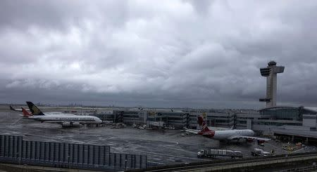 A general view of the international arrival terminal at JFK airport in New York October 11, 2014. REUTERS/Eduardo Munoz