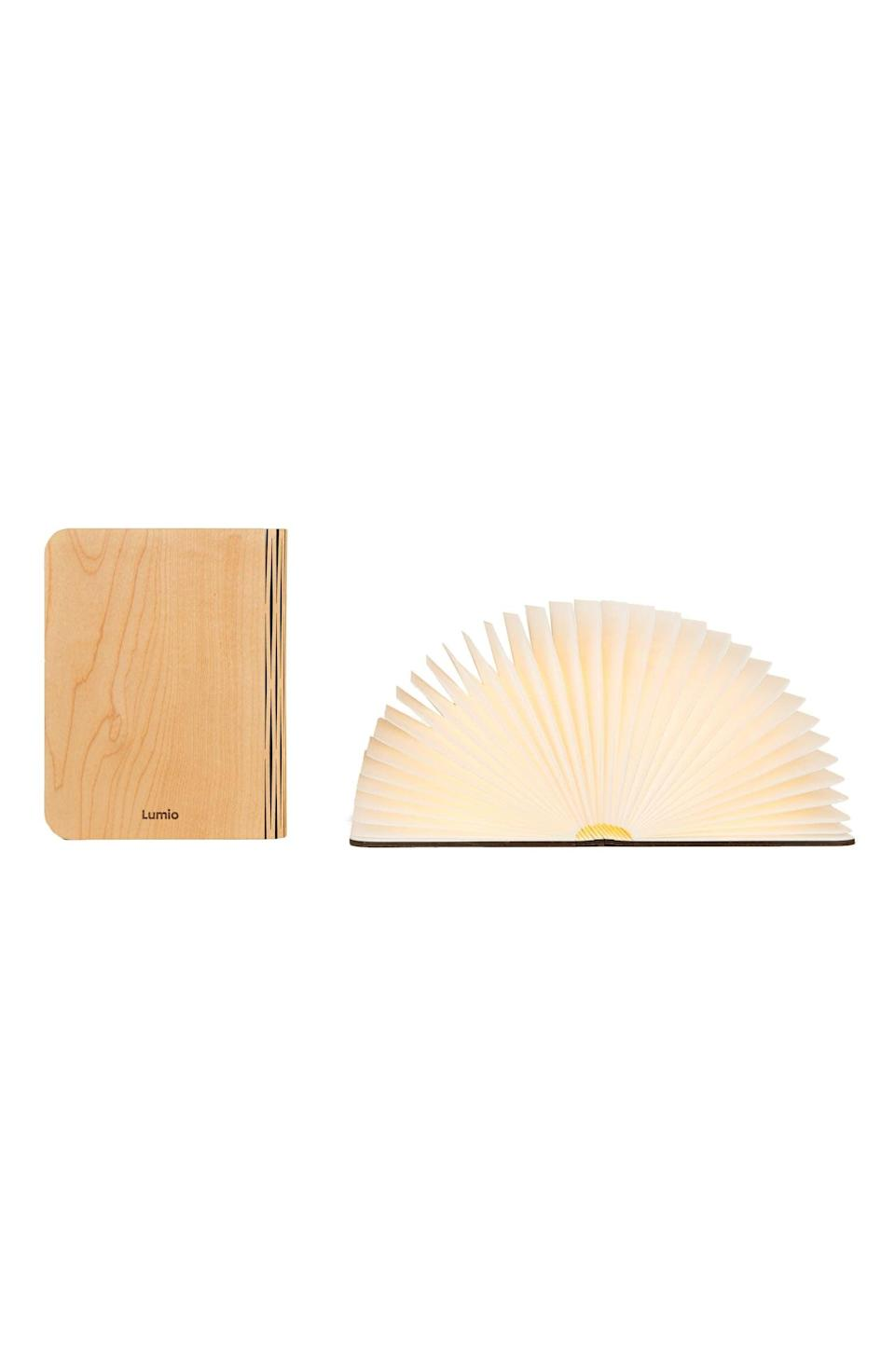 <p>This <span>Lito Classic Wood Portable Light</span> ($200) has to be the chicest reading light we've ever seen.</p>