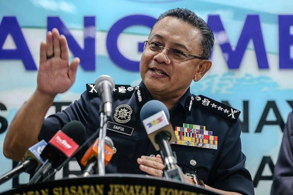 KL police chief Comm Datuk Saiful Azly Kamaruddin says a local politician was arrested and remanded on suspicion of growing marijuana (ganja) and trafficking narcotics. ― Picture by Firdaus Latif