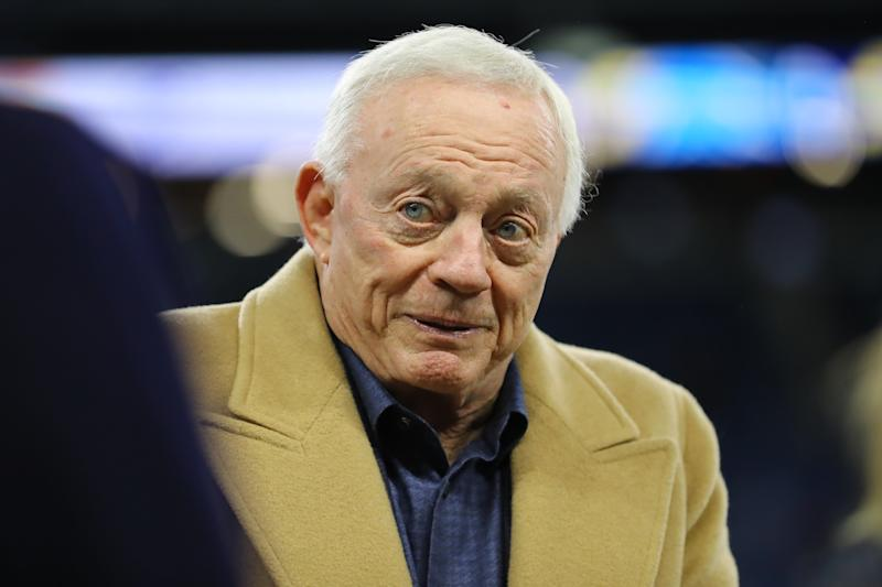 Dallas Cowboys owner/GM Jerry Jones is a proponent of the NFL dropping its prohibition on marijuana. (Rey Del Rio/Getty Images)