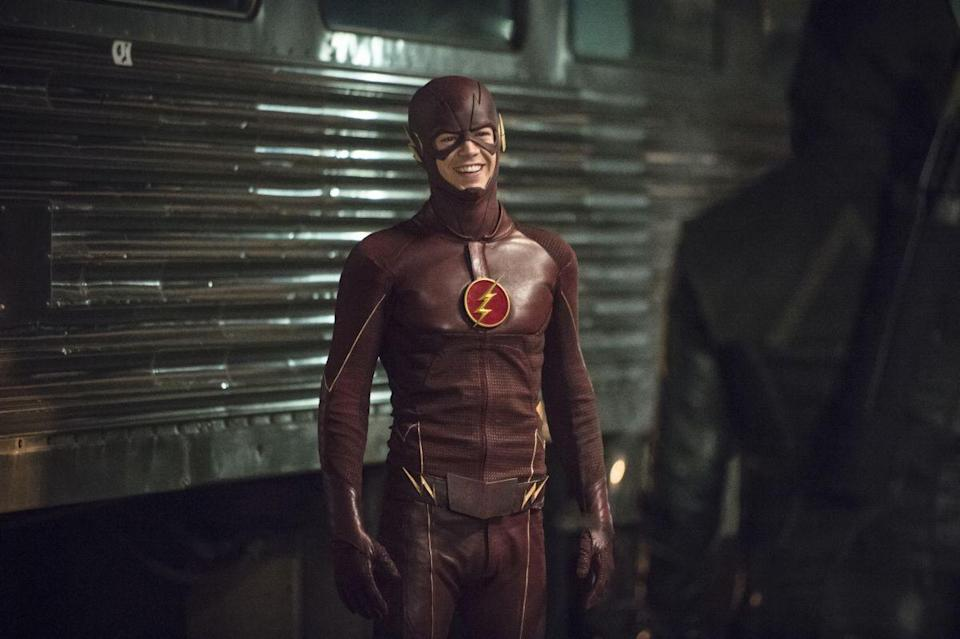 """<p>When the show as originally <a href=""""http://www.ign.com/articles/2012/05/30/arrow-star-stephen-amell-talks-about-playing-tvs-new-oliver-queen"""" rel=""""nofollow noopener"""" target=""""_blank"""" data-ylk=""""slk:pitched"""" class=""""link rapid-noclick-resp"""">pitched</a>, its characters were all superpower-free. """"We tried to make him as real as possible,"""" said Stephen Amell who plays Oliver Queen. That was until they brought <em>The Flash</em> into the show.</p>"""