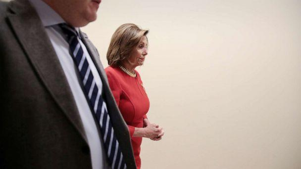 PHOTO: House Speaker Nancy Pelosi arrives for a news conference at the U.S. Capitol in Washington, Dec. 19, 2019. (Jonathan Ernst/Reuters, FILE)