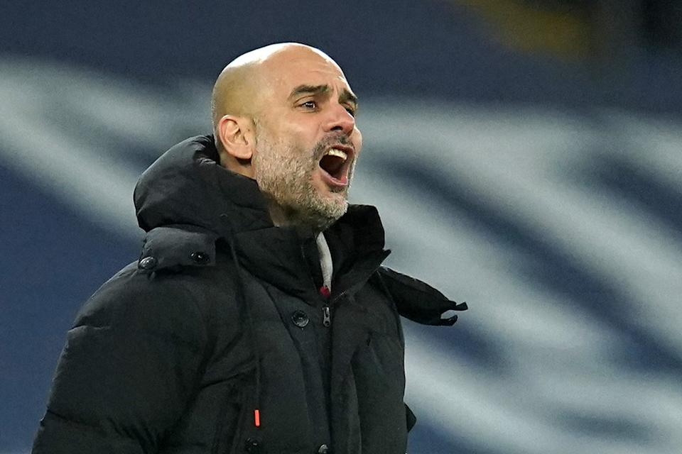 <p>Pep Guardiola's Manchester City host Aston Villa on Wednesday night</p> (POOL/AFP via Getty Images)