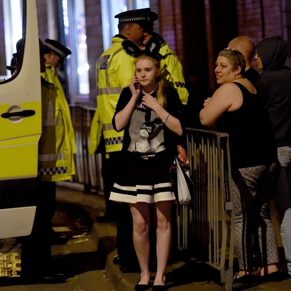 The scene outside the Manchester Arena - Credit: Rex