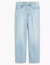 """<p><strong>Madewell</strong></p><p>madewell.com</p><p><a href=""""https://go.redirectingat.com?id=74968X1596630&url=https%3A%2F%2Fwww.madewell.com%2Fthe-dadjean-in-fitzgerald-wash-MA639.html&sref=https%3A%2F%2Fwww.elle.com%2Ffashion%2Fshopping%2Fg34276887%2Fmadewell-jeans-sale-october-2020%2F"""" rel=""""nofollow noopener"""" target=""""_blank"""" data-ylk=""""slk:SHOP IT"""" class=""""link rapid-noclick-resp"""">SHOP IT</a></p><p><strong><del>$118</del> $75 (35% off)</strong></p><p>I'm personally all about the renaissance of Dad-inspired clothing. Chunky sneakers? Can't get enough. Boxy shirts? I never want to wear anything else. Light wash jeans that feel very '90s? An absolute must. Here, a pair of jeans that can be styled down with a crewneck or dressed up with an oversized blazer, Tik Tok-inspired ribbed tank top, and black leather belt.</p>"""