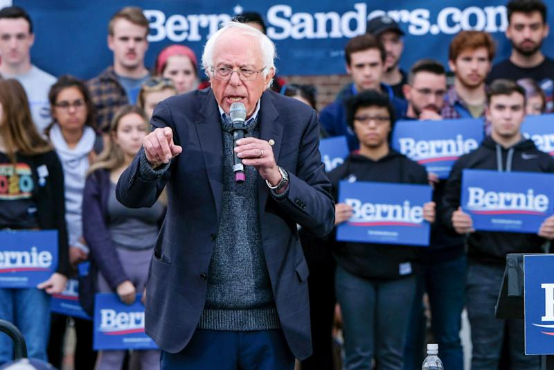 After experiencing chest pains during a campaign event in Las Vegas, presidential candidate Bernie Sanders was treated by doctors for a blocked artery and had two stents inserted. (Photo: Preston Ehrler/SOPA Images/LightRocket via Getty Images)