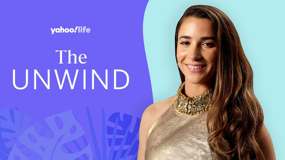 Aly Raisman discusses the role fitness plays in her mental health and how she's learned to stand up for herself. (Photo: Getty Images; designed by Quinn Lemmers)