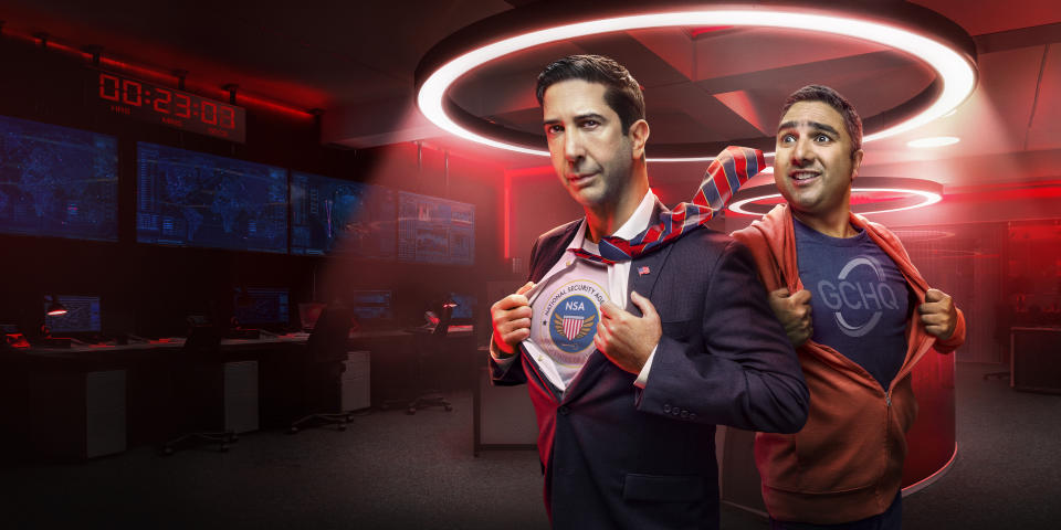 David Schwimmer and Nick Mohammed star in Intelligence. (Sky)