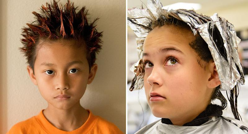 Is it safe to dye your child's hair? (Posed by models) [Photo: Getty]